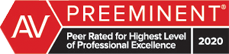 AV Preeminent - Peer Rated for Highest Level of Professional Excellence 2020